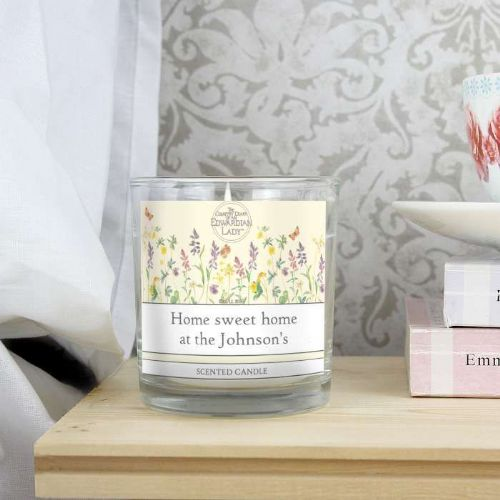 Personalised Country Diary Wild Flowers Scented Jar Candle